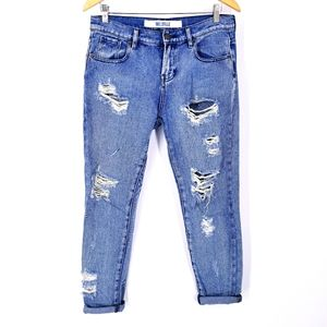 Brandy Melville High Rise Destroyed Jeans 26 / 2